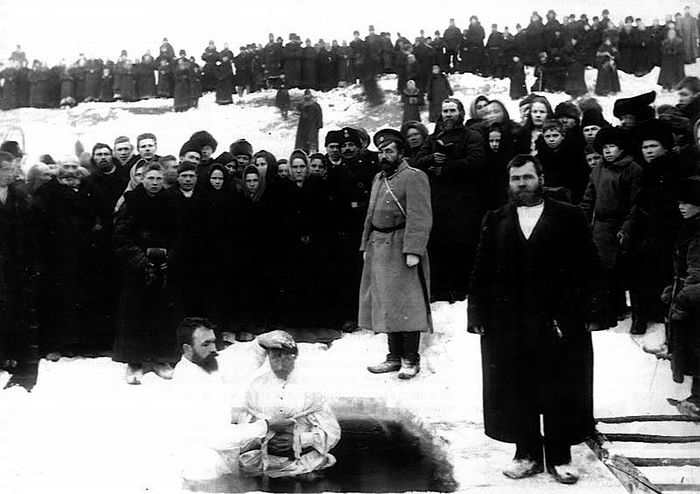 Баптистское «крещение», г. Минусинск, 1907