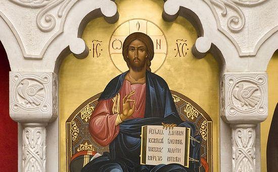 Господь Вседержитель. Иконостас придела в честь преподобной Марии Египетской