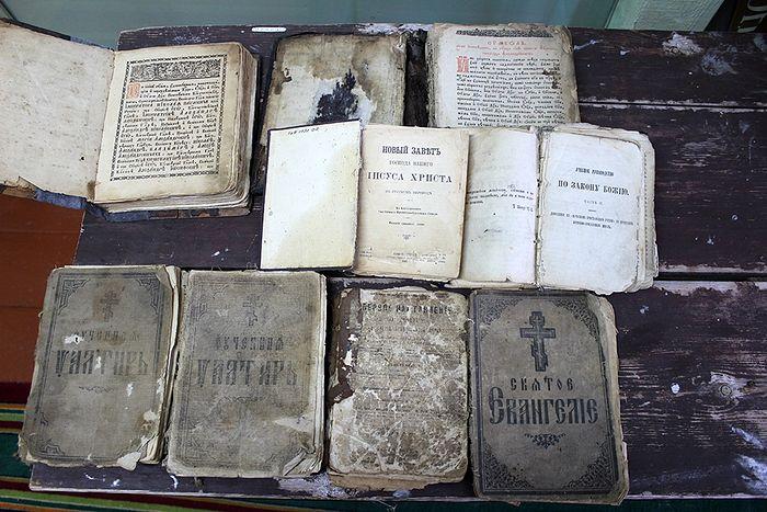 Книги священномученика Всеволода Потеминского в музее деревни Туискерос