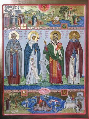 Icon of the Irish Saints. Photo: marygrove.livejournal.com