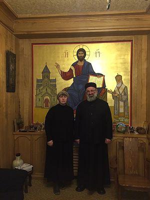 Ольга Рожнева и архимандрит Серафим