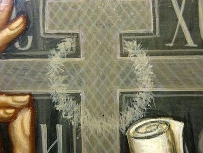 На иконе преп. Серафима Вырицкого чудесным образом проявился нерукотворный Терновый Венец
