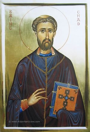An icon of St. Chad of Lichfield (by Aidan Hart)