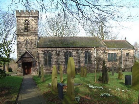 St. Chad's Church in Bagnall, Staffordshire