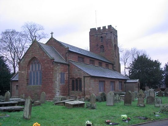 St. Chad's Church in Farndon, Cheshire