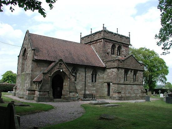 St. Chad's Church in Slindon, Staffordshire