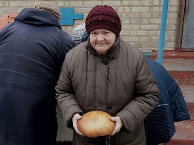 Епархия раздает хлеб в прифронтовом Зайцево