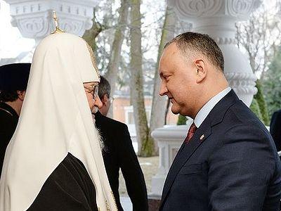 Святейший Патриарх Кирилл встретился с Президентом Молдовы Игорем Додоном