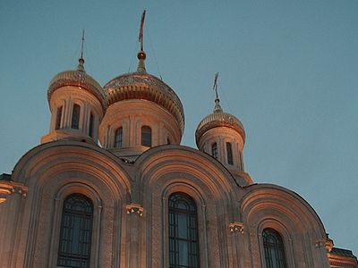 Литургия у нового храма
