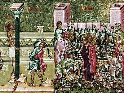 Вечернее богослужение в Сретенском монастыре в Неделю 3-ю, Крестопоклонную Великого Поста. Пассия 2-я