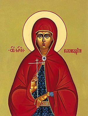 The Holy Virgin Martyr Claudia