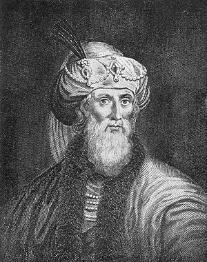 The romanticized woodcut engraving of Flavius Josephus appearing in William Whiston's translation of his works. Photo: Wikipedia