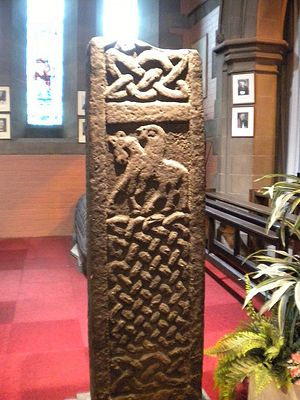 A carved cross, Govan Old Church, Glasgow