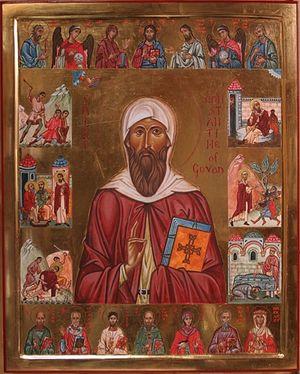 An icon of St. Constantine of Cornwall and Govan (by Aidan Hart)