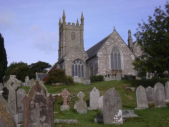 St. Constantine's Church in Constantine village, Cornwall