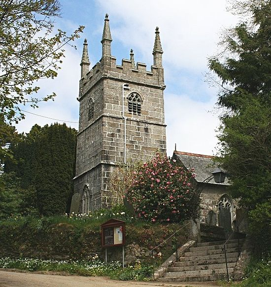 St. Piran's Church in Perranarworthal, Cornwall (source - Geograph.org.uk)