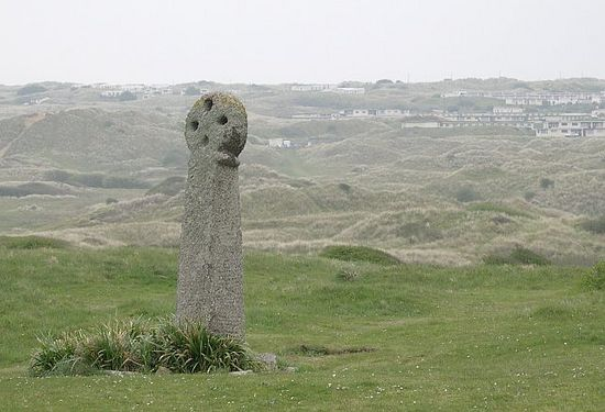St. Piran's cross at Perranzabuloe, Cornwall