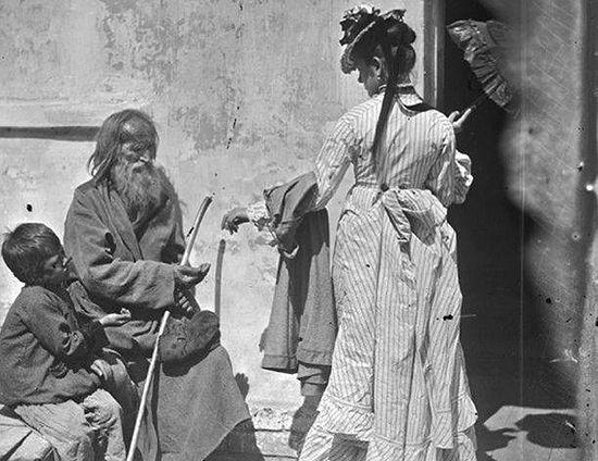 Милостыня. Фото 19 века с сайта photochronograph.ru