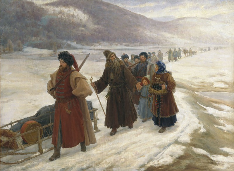 Avvakum's Exile in Siberia (1898), by Sergey Miloradovich. Photo: Wikipedia