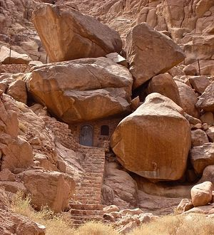 Cave of Saint John of the Ladder in Sinai