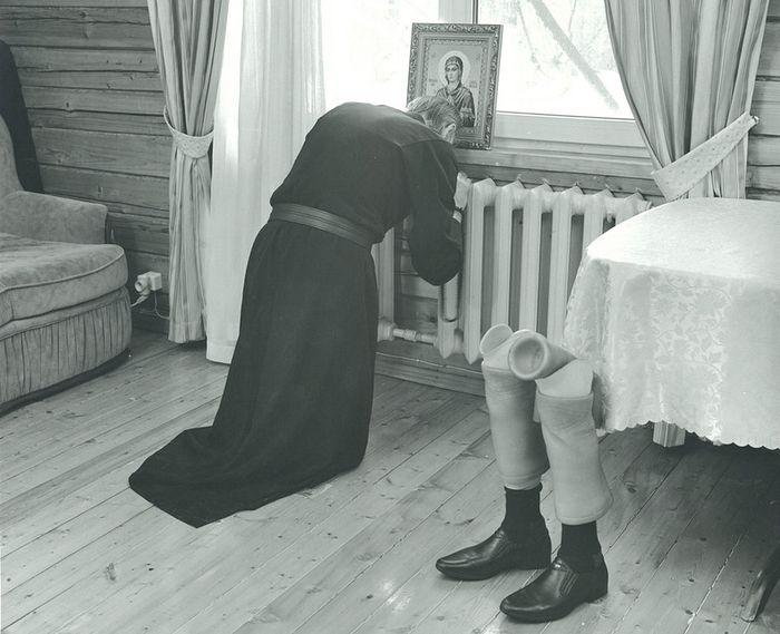2016г. Инок Киприан (Валерий Бурков) в своей келье