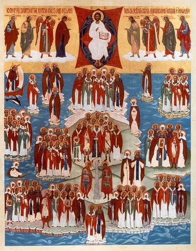 Icon of All Saints who shone forth in the lands of Britain and Ireland. Photo: Pravoslavie.ru