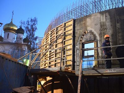 Строительство нового храма. год 2014-й
