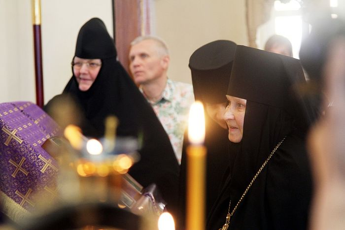 Матушка Георгия на Литургии - Лазарева суббота