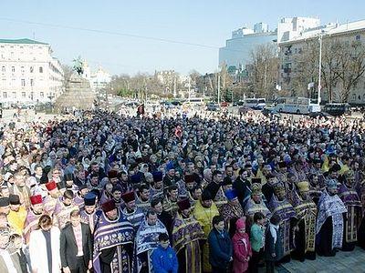 Министерство образования Украины сгоняет учителей на молебен раскольника Филарета