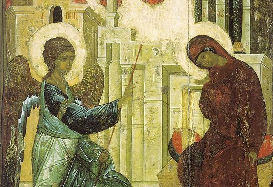 Andrei Rublev. Annunciation. 1405, Moscow