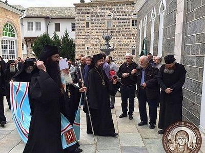 На Афоне состоялись торжества Благовещения Пресвятой Богородицы