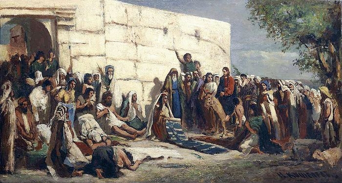 Вход Господень в Иерусалим. Н.А. Кошелев. (1840–1918)