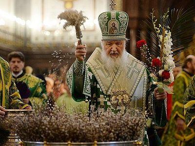 В канун праздника Входа Господня в Иерусалим Патриарх Кирилл совершил всенощное бдение в Храме Христа Спасителя