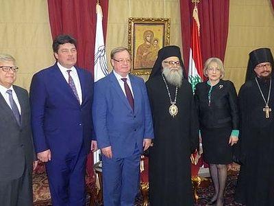 Антиохийский Патриарх принял делегацию Императорского православного палестинского общества