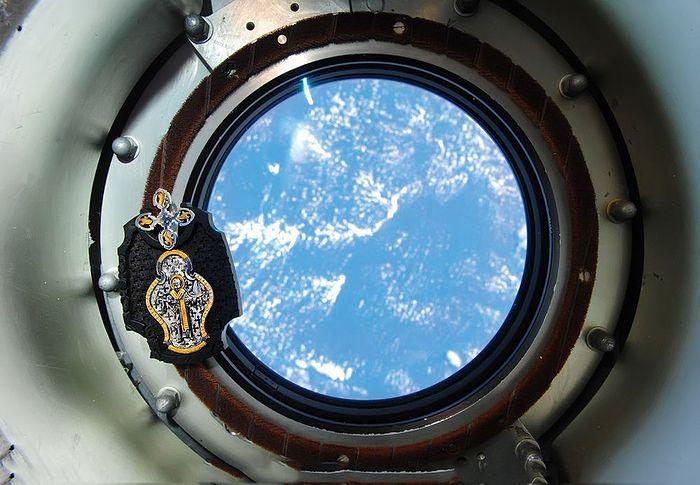 Образ святителя Николая Чудотворца на МКС. Фото с сайта www.pravexp.ru