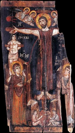 Holy and Great Friday. The Crucifixion. 8th c. Mt. Sinai.
