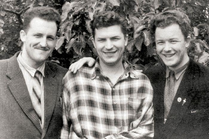 Братья Кречетовы Николай, Петр и Валериан в 1956 году