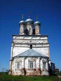 Церковь в с. Лысково, построенная на месте храма, в котором служил Никита Минов