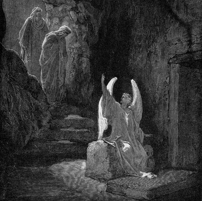 The Angel at the Sepulchre. Gustave Doré