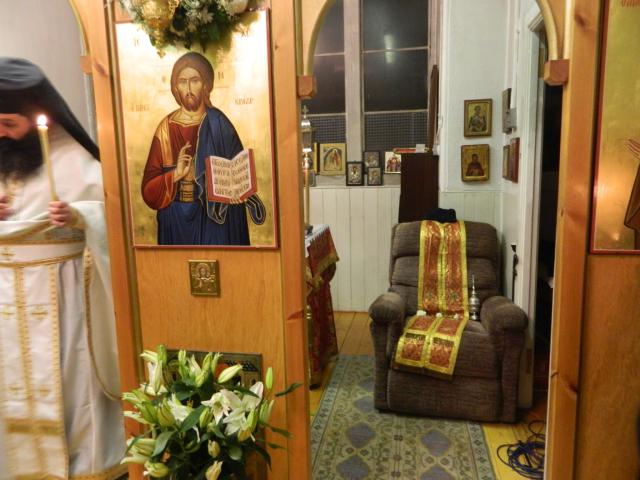 Orthodox Easter St Andrews Church Edinburgh 2013; Father John's seat.