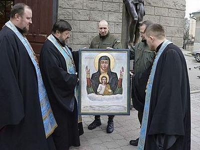 Маразм крепчал: Украинские раскольники написали икону в память о разгроме под Дебальцево