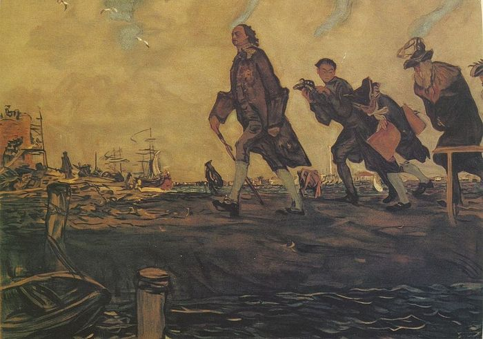 Петр I. Художник: В.А. Серов, 1907