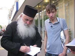 Архимандрит (ныне митрополит) Нектарий и Назар Стадниченко