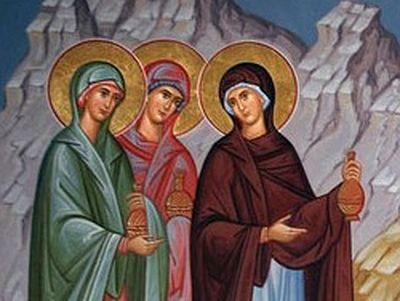 On the Sunday of the Myrrhbearers
