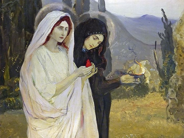 The Myrrhbearing Women. M.Nesterov. 1901