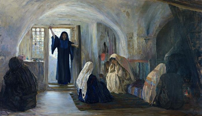 Vasily Polenov. Ushered in a Tearful Joy. Beginnong of XX C.