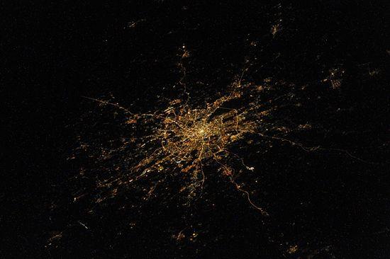 Москва, вид из космоса