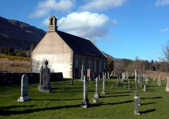 Clachan Church at Applecross (source - John S Ross from Geograph.org.uk)