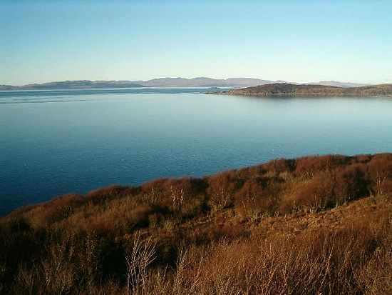 View from Knapdale towards Jura Island, Argyll and Bute