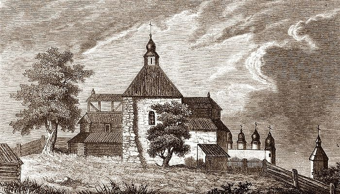 The Tithes Church as it appeared in 1633